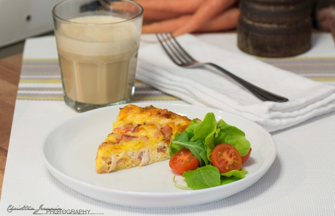 Egg & Bacon 'Keto' Quiche