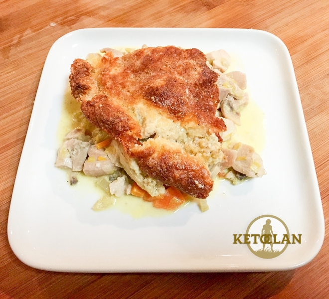 The Keto Clan Chicken and Leek pie